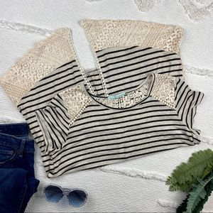 •Maurices• Crochet Striped Top